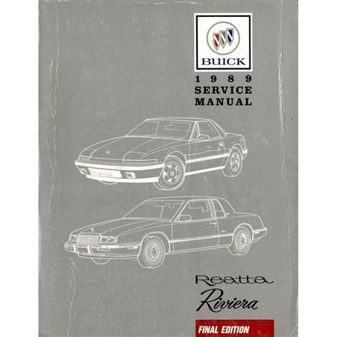 book repair manual 1989 buick riviera spare parts 1989 buick reatta reviera final edition repair manual english