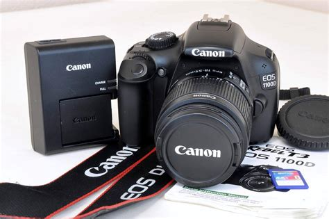 Kamera Dslr Canon Eos 1100d Kit 1 Color canon eos 1100d digital rebel t3 12 2 mp dslr kit ef s 18 55mm is ii lens ebay