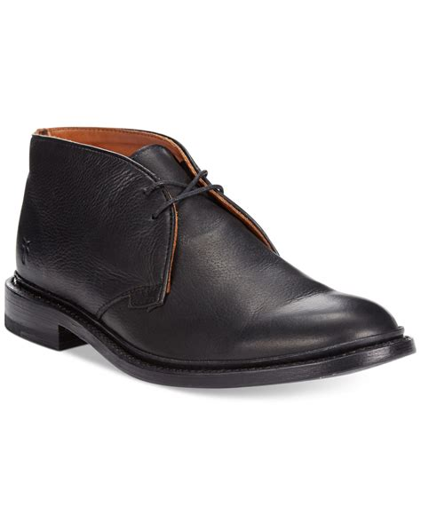 frye mens sneakers frye chukka boots in black for lyst