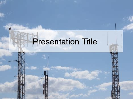 template powerpoint radio radio antenna powerpoint template