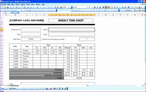 timesheet template excel noshot info
