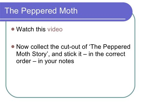The Moth And The L Summary 8 evolution and genetic engineering