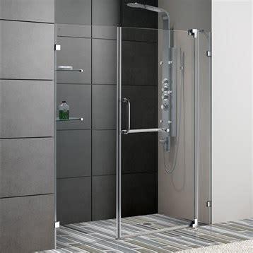 60 Inch Frameless Glass Shower Doors Vigo 60 Inch Frameless Shower Door 3 8 Quot Clear Glass Free Shipping