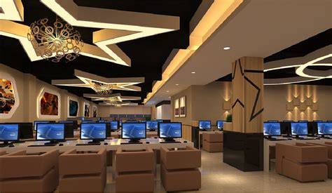 design cyber cafe interior lighting design ideas for internet cafe