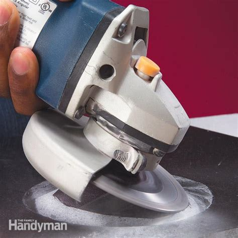 How To Cut Ceramic Floor Tile by How To Cut Tile With A Grinder The Family Handyman