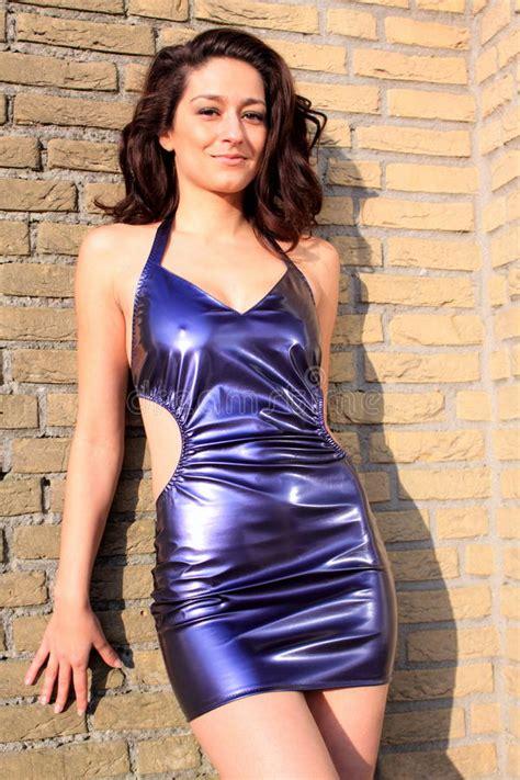 imagenes jpg en latex purple latex metallic dress stock photo image of