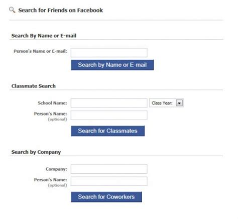 Search Fb Friends By Email Search How To Make The Most Of It Ghacks Tech News