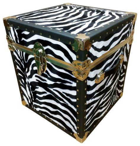 Zebra Side Table End Table Zebra Eclectic Side Tables And Accent Tables