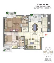 2 Bhk Plan by Overview Savitry Greens At Vip Road Zirakpur N K
