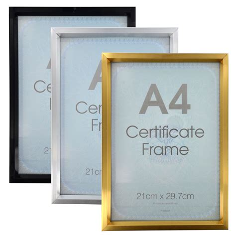 Poster Frame Kayu A4 29 new a4 certificate photo picture frames gold silver black poster framing ebay