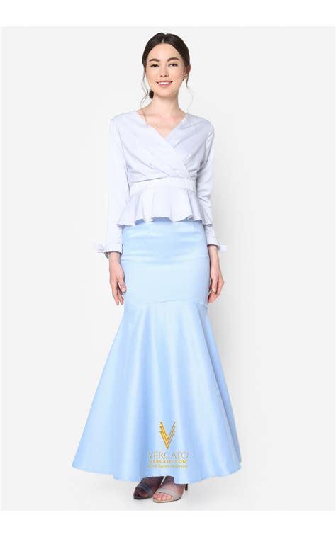 Baju Peplum baju kurung moden peplum vercato in bluish grey
