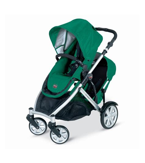 britax b ready stroller and 2nd seat in green