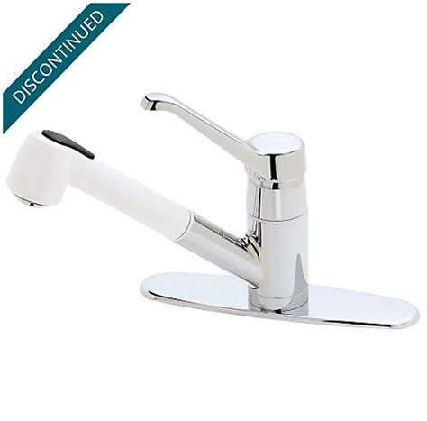 white kitchen faucets pull out polished chrome white porcelain genesis 1 handle pull