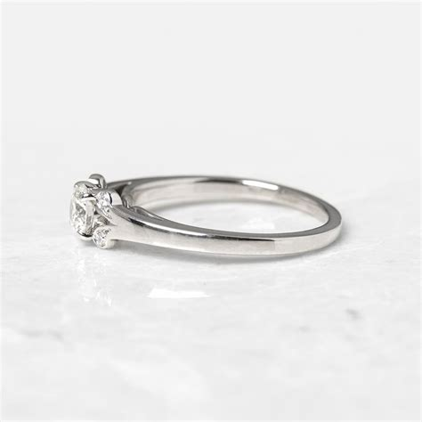 cartier platinum 0 32ct ballerine engagement ring