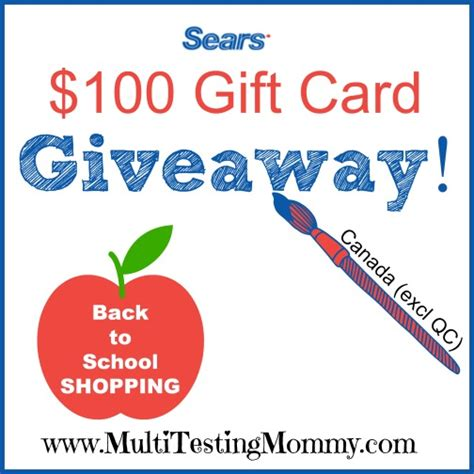 Sears Giveaway - sears back to school giveaway
