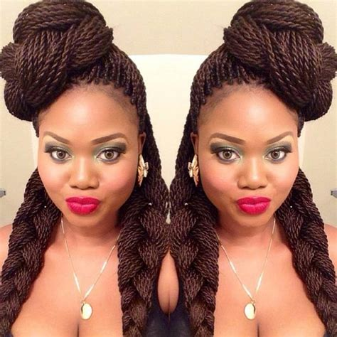 how to style plaited carrot braid hair for black women 29 senegalese twist hairstyles for black women stayglam