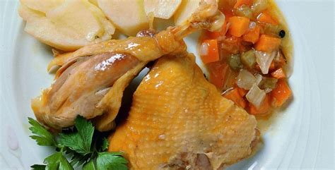 vegetables to europe boiled capon with vegetables visit europe