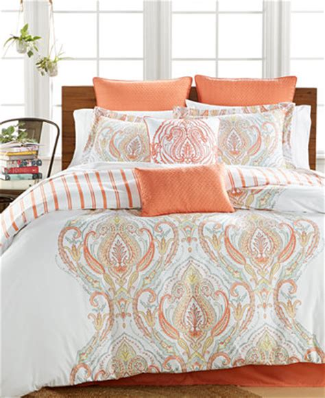 macys bed comforter sets jordanna coral 8 pc comforter sets only at macy s bed