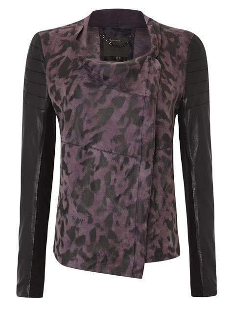 leather drape jacket muubaa vevey mauve black leather drape jacket rrp 163 400