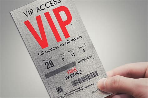 vip pass card template stylish vip pass template card templates on creative market