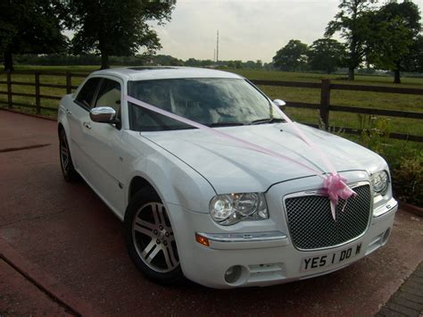wedding car watford modern chrysler white modern wedding car in watford
