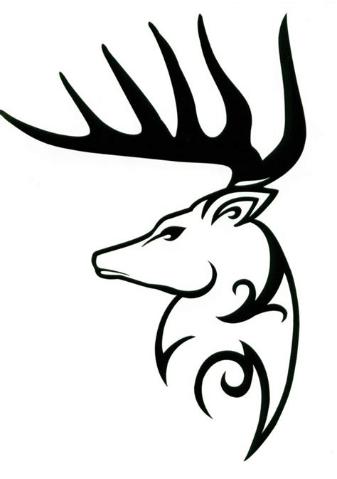 sweet tribal tattoos sweet tribal deer in profile design