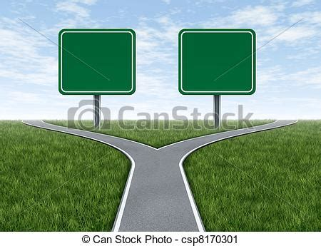 Doing Options The Right Way 2 by Clipart Of Two Options With Blank Road Signs Facing A