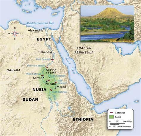 africa map kush the kingdom of kush smore