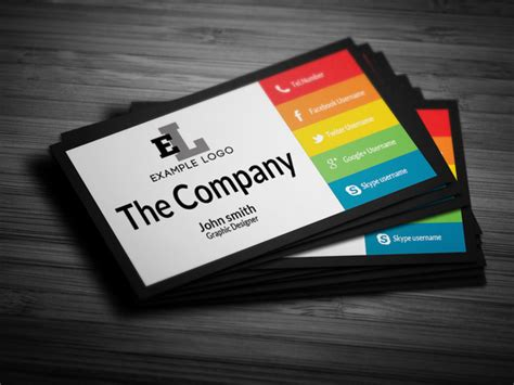 Creative Personal Business Card Templates by Colorful Personal Business Card Business Card Templates