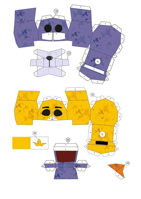 Papercraft How To - papercraft fnaf bonnie and chica ending heads by
