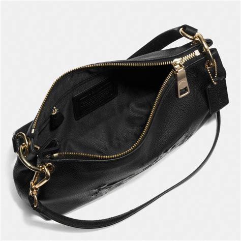 Coach Sulvian Emboss Black coach embossed and carriage crossbody in pebbled leather in black lyst