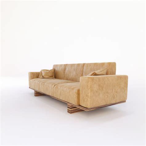 utah upholstery riva 1920 utah sofa 3d model max obj fbx mtl cgtrader com