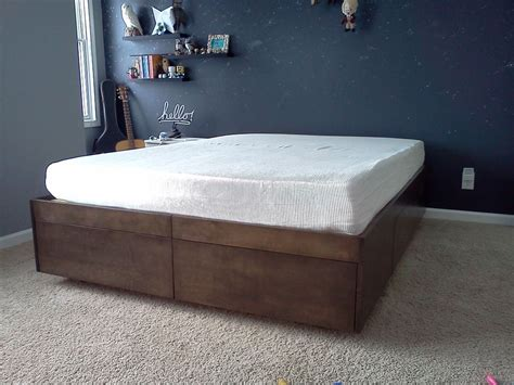 Build Platform Bed Diy Size Platform Bed With Storage Drawers Plans Plans Free