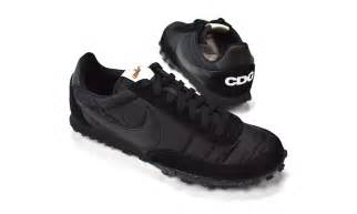 Nike Waffle X Cdg comme des gar 199 ons black nike waffle racer is now available