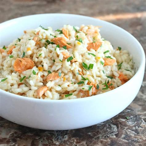 salmon and risotto salmon risotto with preserved lemon the daring gourmet