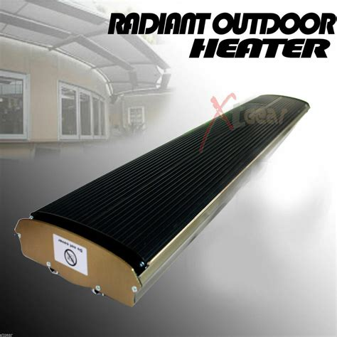 radiant outdoor heater  patio ceiling wall mount