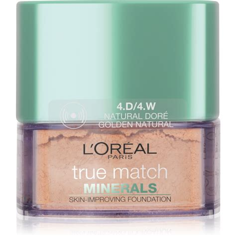 L Oreal True Match Mineral Foundation l or 201 al true match minerals powder foundation