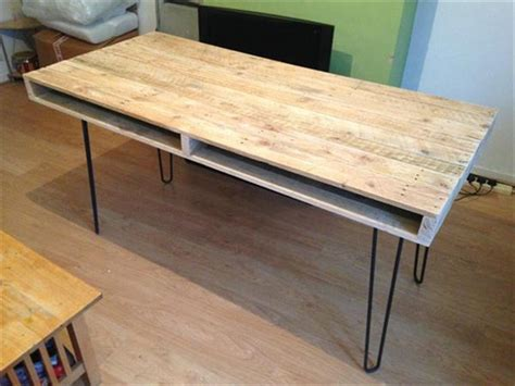 diy dining table hairpin legs 13 diy pallet tables with hairpin legs 1001 pallet ideas