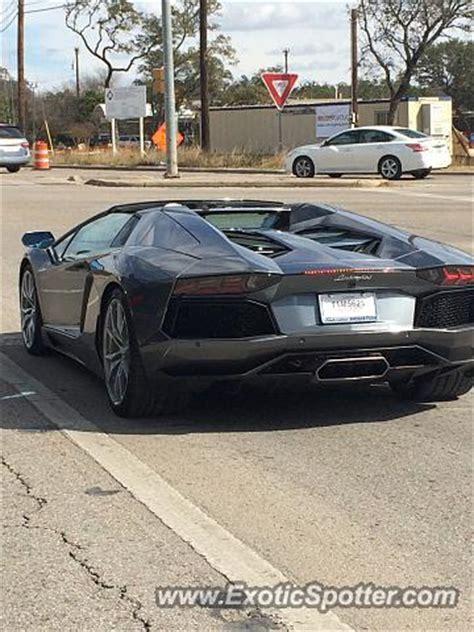 Lamborghini San Antonio Tx Lamborghini Aventador Spotted In San Antonio On 01