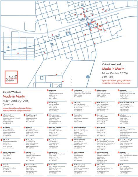 where is marfa map chinati weekend 2016 made in marfa the chinati