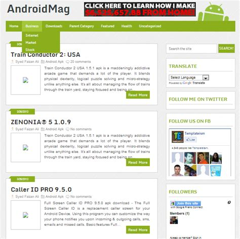 Responsive Templates For Android | android mag free responsive blogger template asimbaba