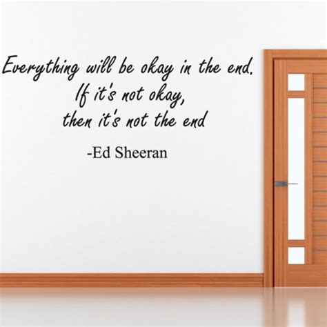 Wall Stickers Quotes Uk ed sheeran wall sticker quote wall chimp uk