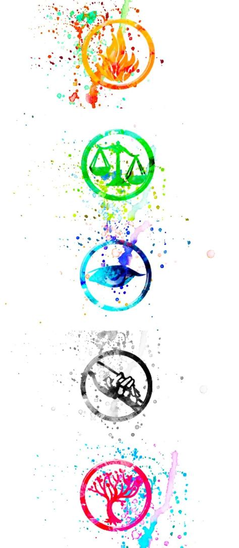 dauntless tattoo quiz icons water colored divergent pinteres