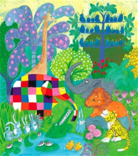 Elmer The Patchwork Elephant Story - not enough sequins elmer