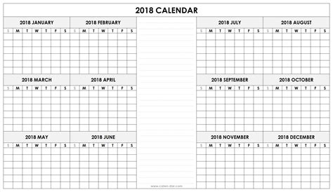 printable calendar room for notes may blank calendar 2018 christopherbathum co