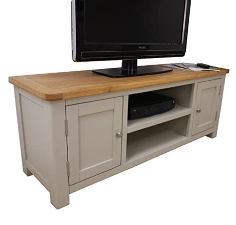 fully assembled dvd cabinet aspen painted oak grey large tv plasma dvd