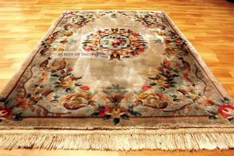 chinesische teppiche aubusson deco china teppich seiden glanz 190x120cm
