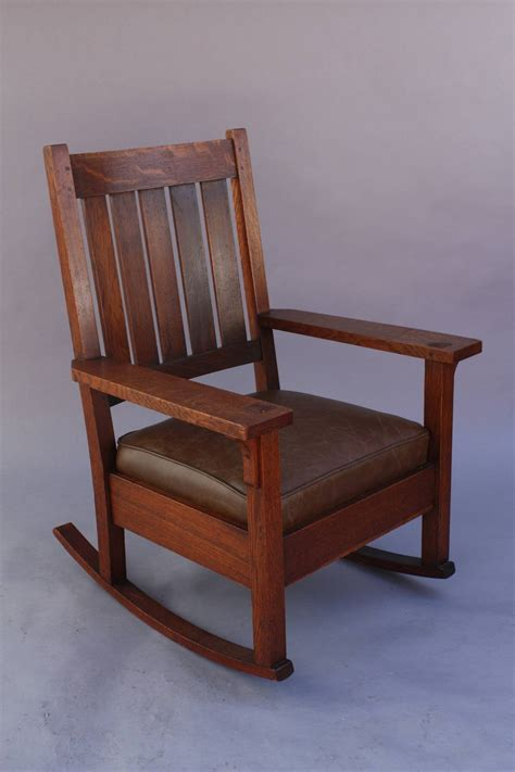 Sacramento Upholstery Rocker Attributed To Gustav Stickley Circa 1910 At 1stdibs