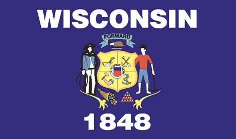 Wisconsin The 30th State by Wisconsin State Flag Milwaukee Area Radio Enthusiasts Mare