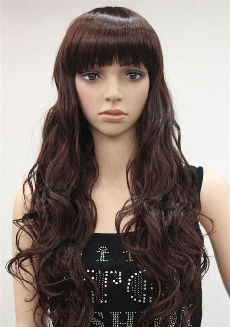 Daily Wig Rws 04 fashion auburn wavy daily wig bangs in synthetic wigs from health